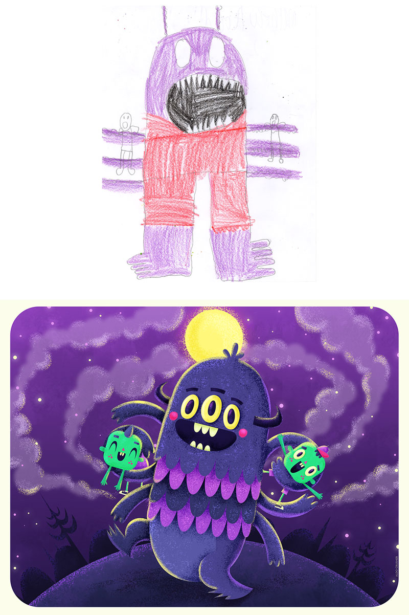 the monster project brings kids drawings to life (32)