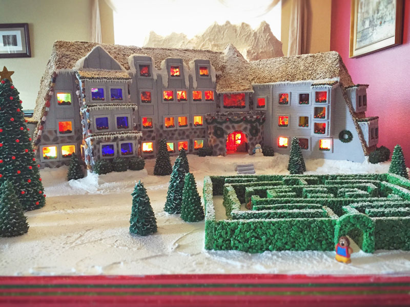 Family Makes Amazing Gingerbread Replica of the Hotel from The Shining