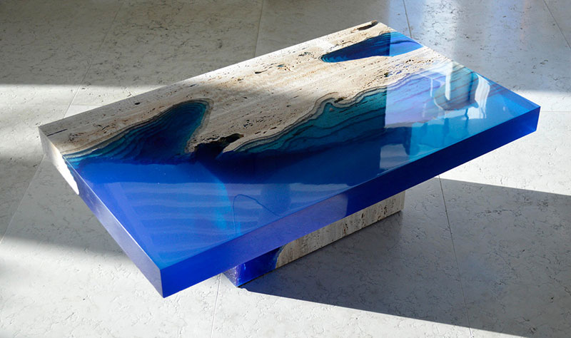 lagoon table made from marble and resin by LA Table (3)