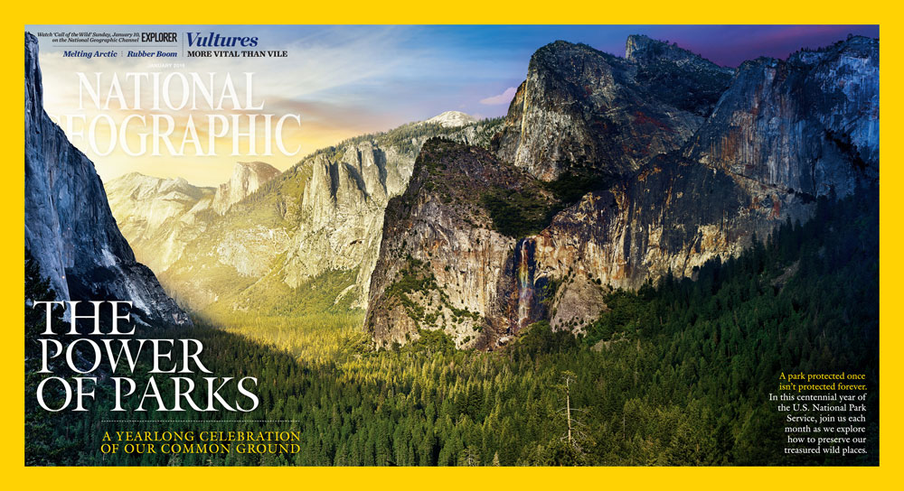 ngm january 2016 gatefold cvr Amazing Day to Night Photos of US National Parks by Stephen Wilkes