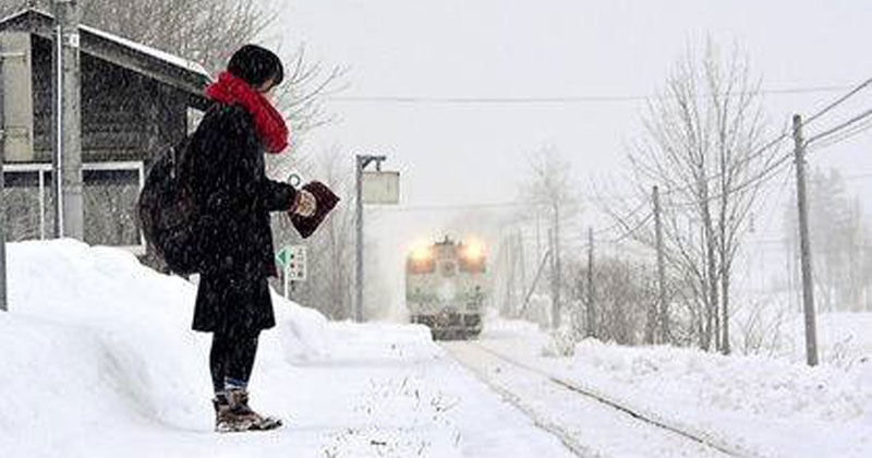 Remote Train Station in Japan Remains Open So Student Can Go to School (2)