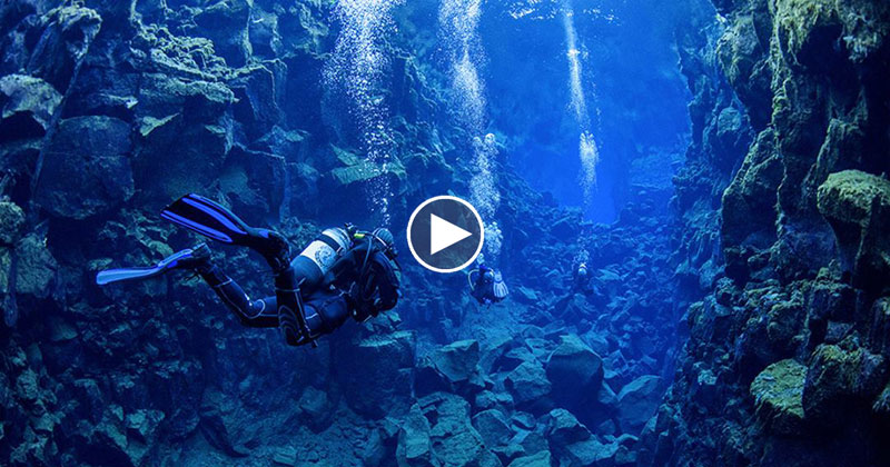 In Iceland, You Can Go Diving Between Two Continental Plates