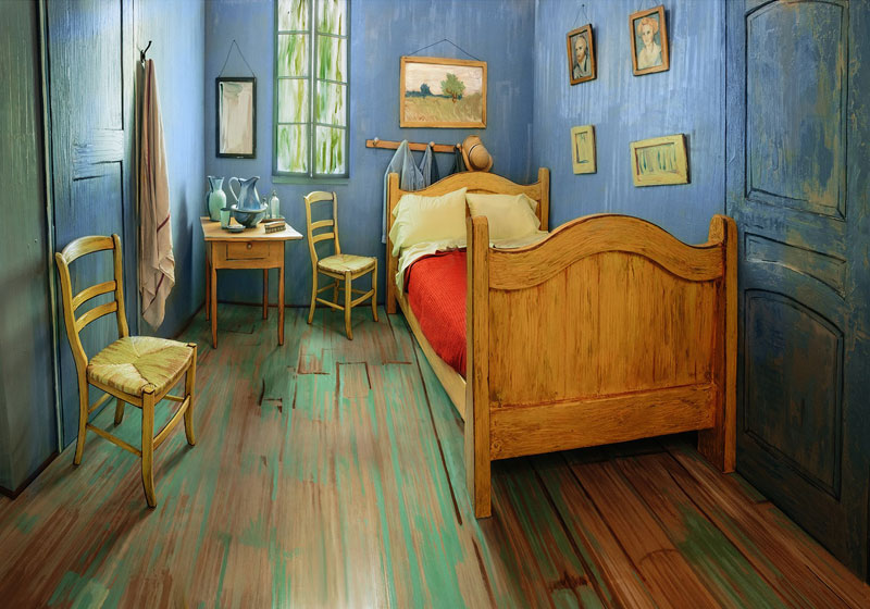 AIC Museum Recreates Van Gogh Bedroom Painting and Puts it on Airbnb (1)