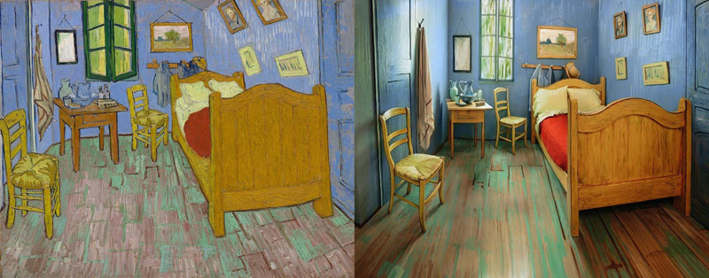 Museum Recreates Van Gogh\'s Bedroom Painting and Puts it on ...