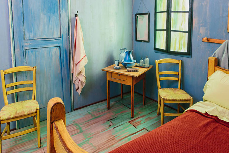 AIC Museum Recreates Van Gogh Bedroom Painting and Puts it on Airbnb  5 Museum Recreates Van Gogh s Bedroom Painting and Puts it on Airbnb  . The Bedroom Van Gogh Painting. Home Design Ideas