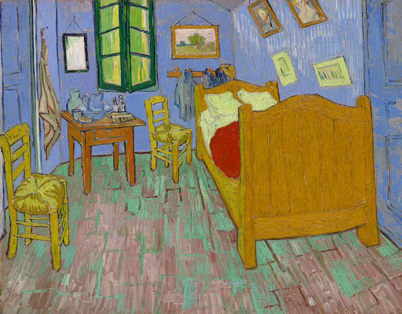 AIC Museum Recreates Van Gogh Bedroom Painting and Puts it on Airbnb (6)