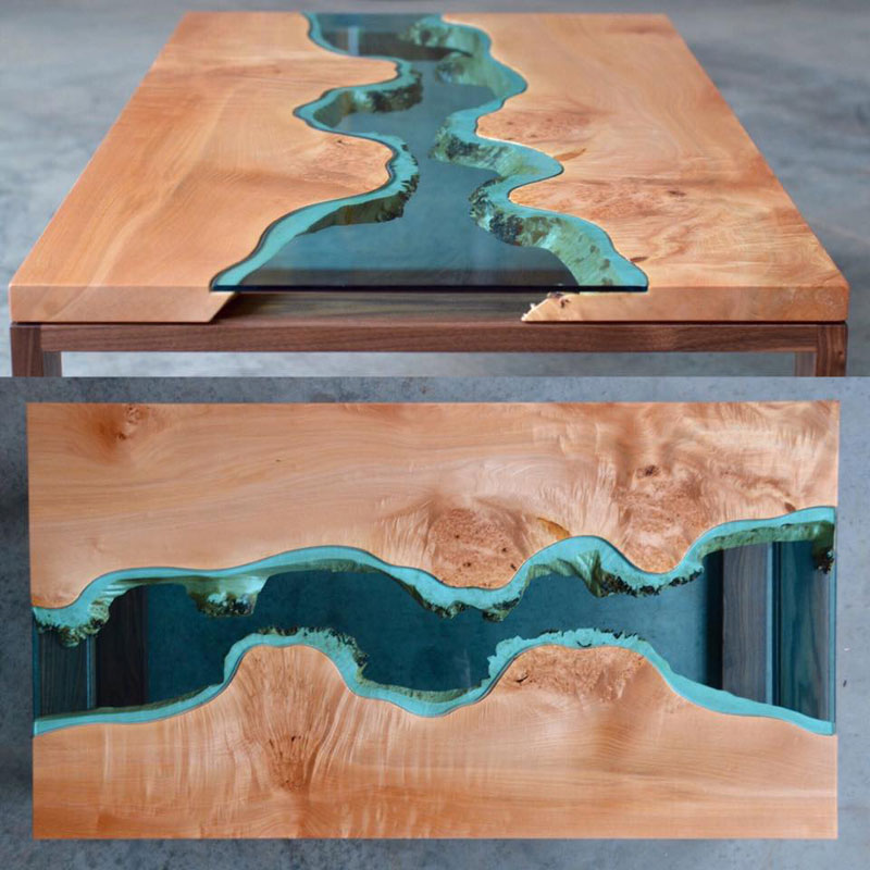 artist gregory klassen wood glass rivers lakes furniture (1)