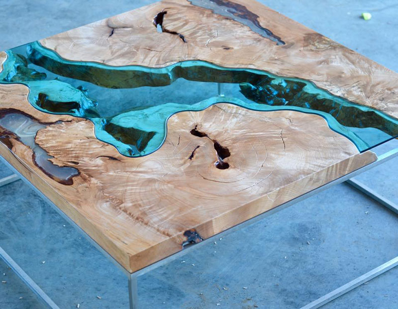 artist gregory klassen wood glass rivers lakes furniture (6)