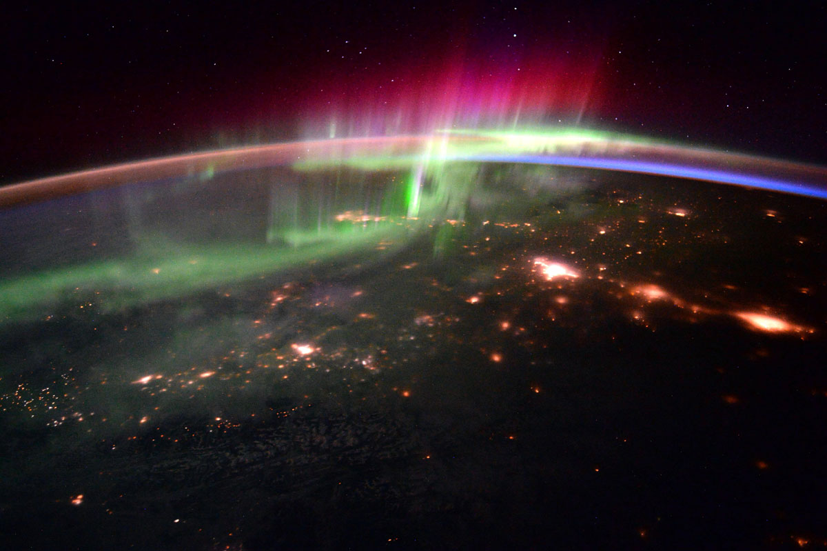 aurora borealis from iss scott kelly Picture of the Day: Aurora Borealis Over the Pacific Northwest