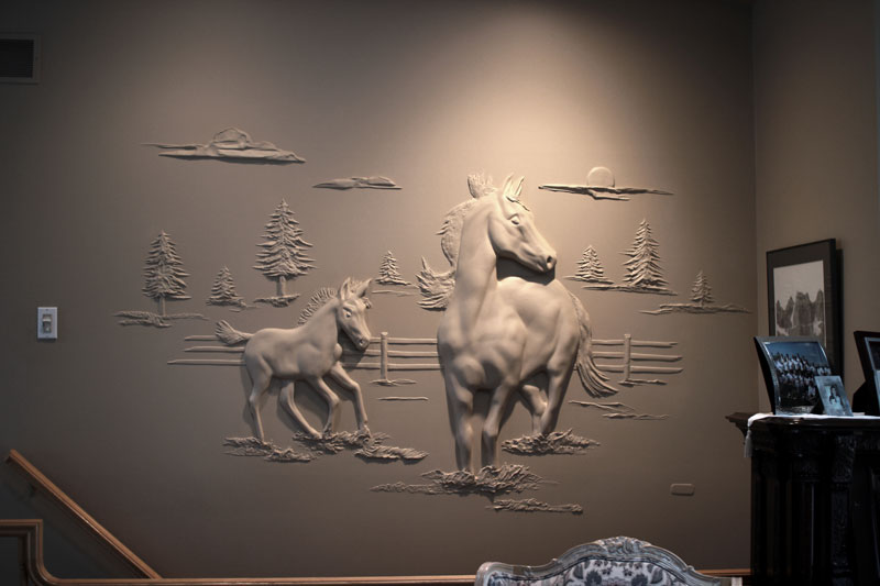 Artist turns drywall into art with nothing but joint compound twistedsifter - Fabulous wall art using joint compound ...