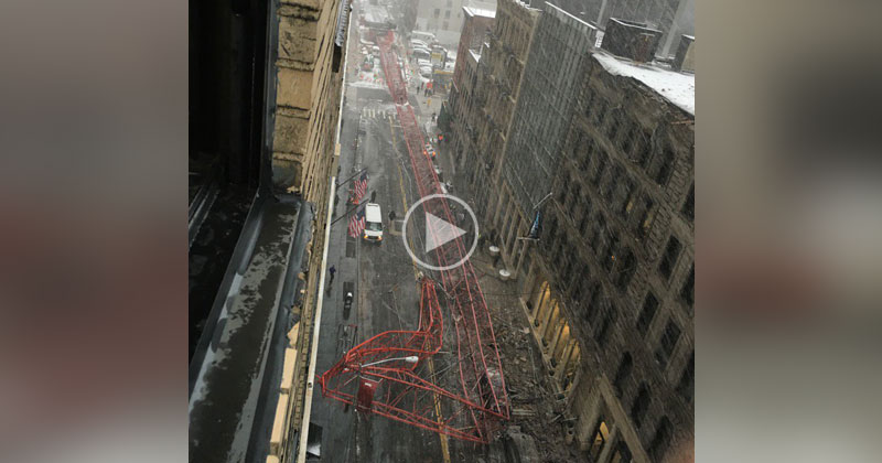 Raw Video Captures 565 ft Crane Collapsing in Manhattan