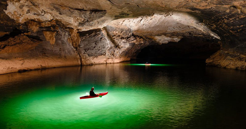 Exploring One Of The Worlds Largest River Caves With A Kayak And - World largest river in the world