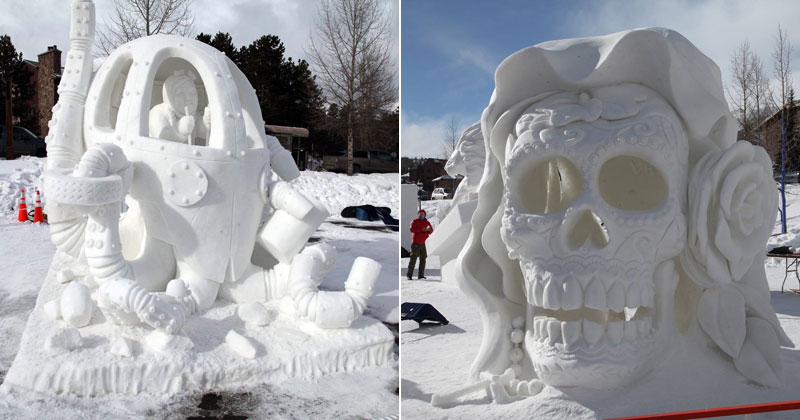 Highlights from the 2016 International Snow SculptingChampionships