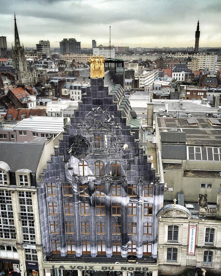 Picture of the Day: JR Going Big in Lille, France