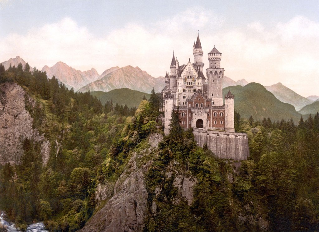 Picture of the Day: Neuschwanstein Castle circa 1900, 10 Years After It WasBuilt