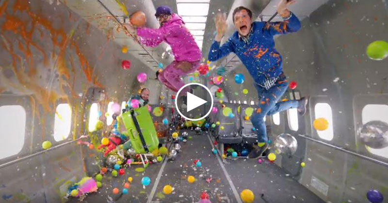 This Music Video was Shot in Zero Gravity. There are No Wires or Green Screens