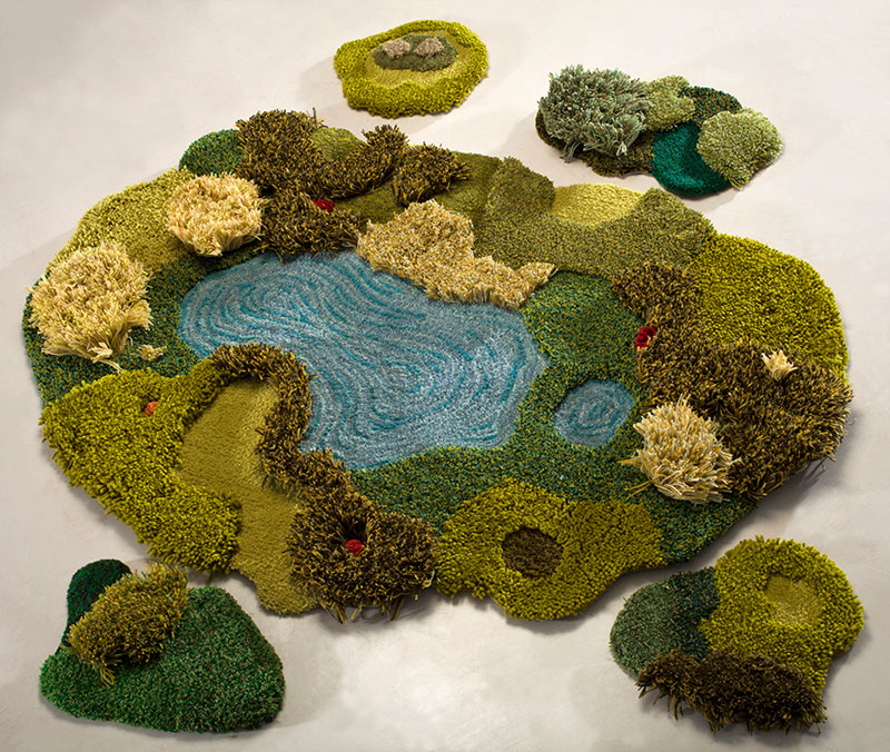 One-of-a-Kind Rugs That Look Like Lush Green Landscapes by alexandra kehayoglou (13)