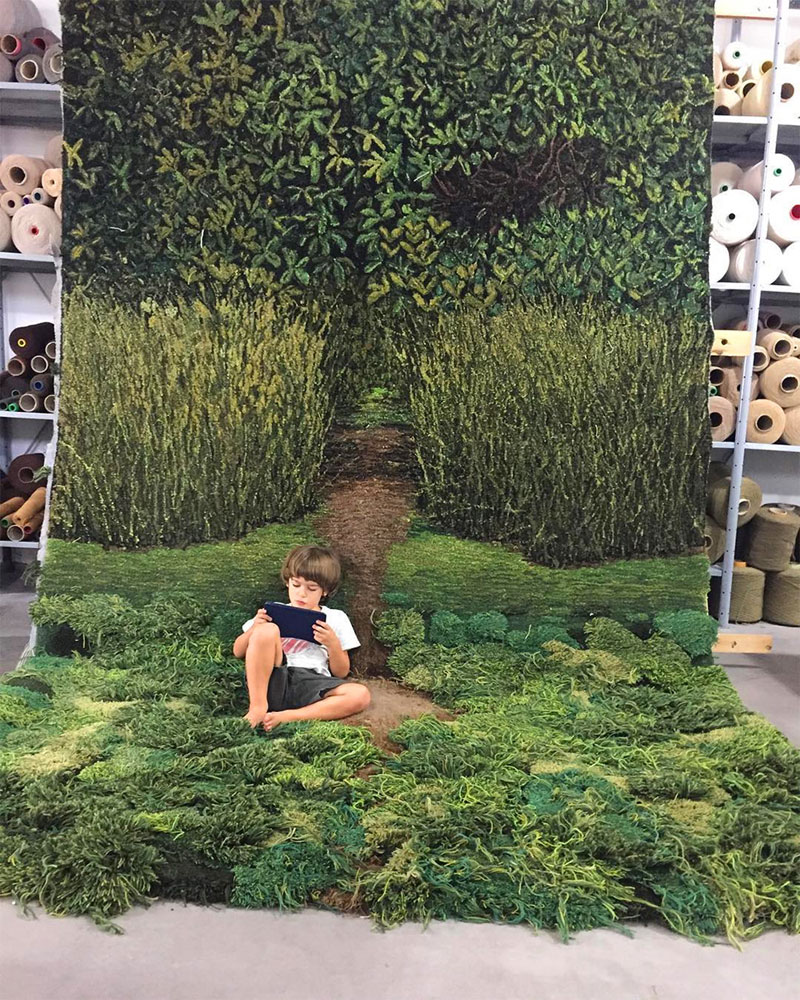 One-of-a-Kind Rugs That Look Like Lush Green Landscapes by alexandra kehayoglou (16)