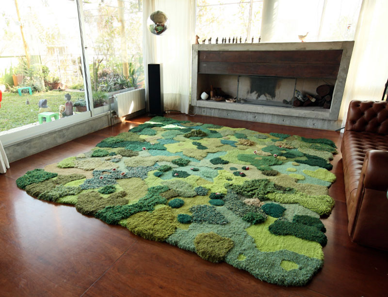 One-of-a-Kind Rugs That Look Like Lush Green Landscapes by alexandra kehayoglou (17)
