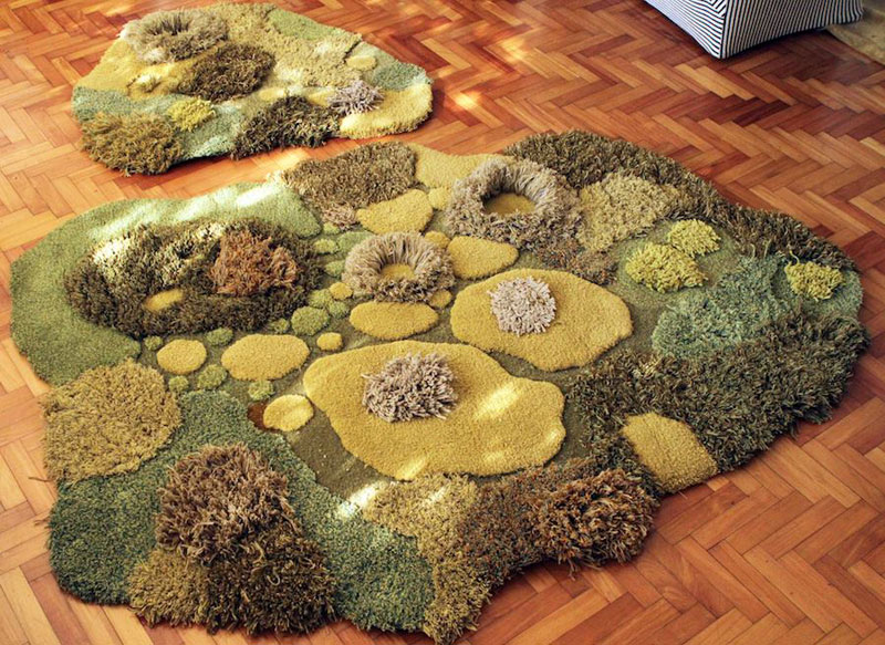 One-of-a-Kind Rugs That Look Like Lush Green Landscapes by alexandra kehayoglou (4)