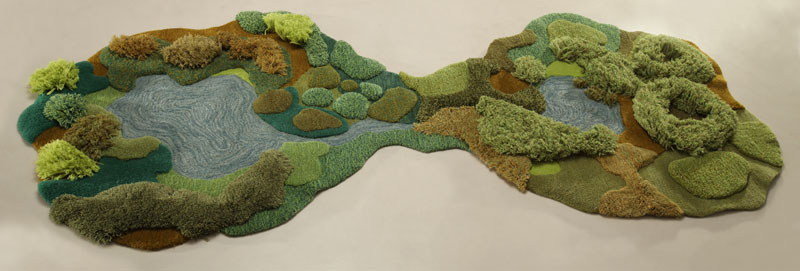 One-of-a-Kind Rugs That Look Like Lush Green Landscapes by alexandra kehayoglou (9)