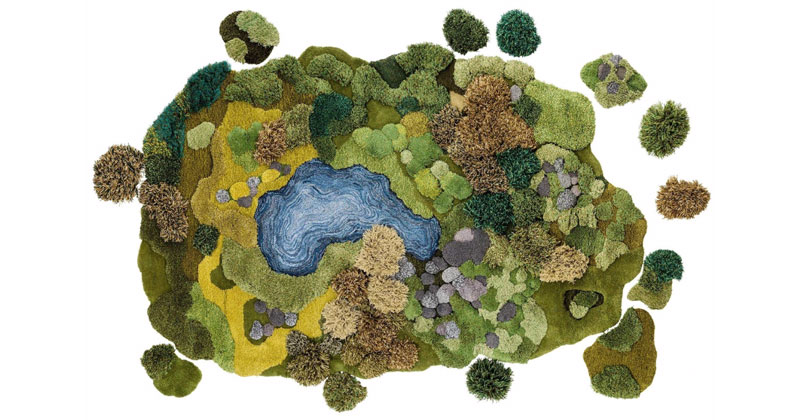 Artist Creates One-of-a-Kind Rugs That Look Like Lush GreenLandscapes