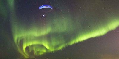 Guy Goes Paragliding Through Aurora Borealis inNorway