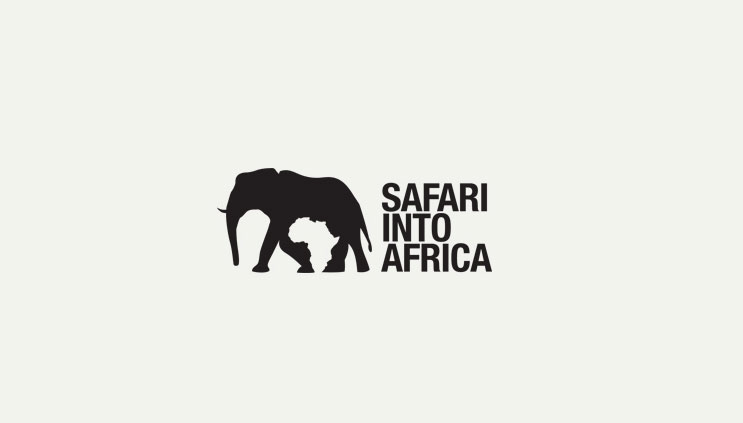 safari into africa logo1 15 Logos That Found a Creative Use for Negative Space