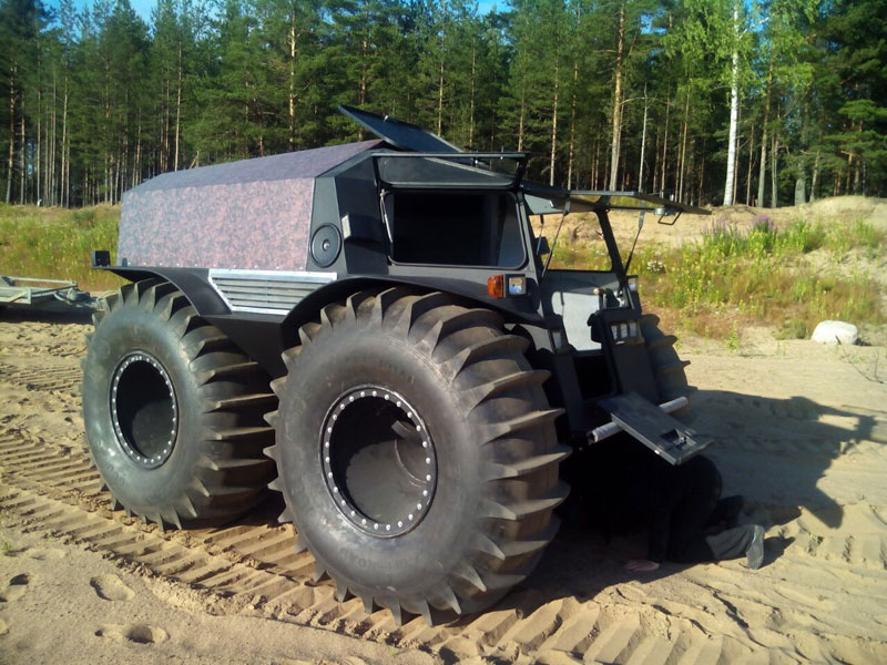 sherp atv russian amphibious truck with monster wheels (4)