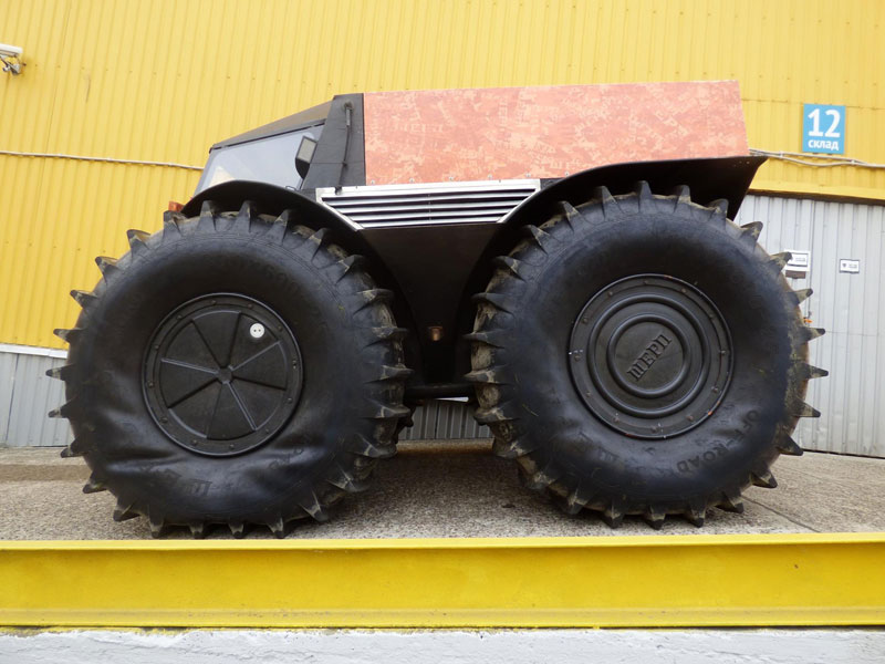 Sherp Atv For Sale >> This Russian Designed Amphibious Truck With Self Inflating