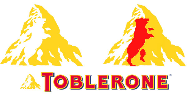 toblerone logo bear 15 Logos That Found a Creative Use for Negative Space