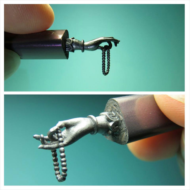 alphabet carved into mechanical pencil lead by chien chu lee (1)