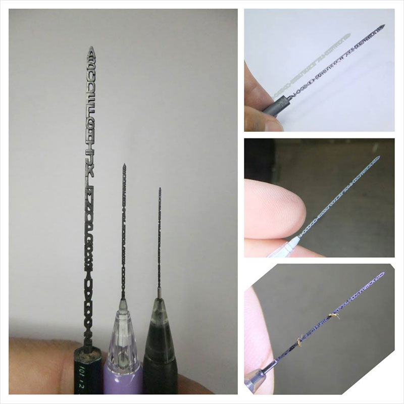 alphabet carved into mechanical pencil lead by chien chu lee (2)
