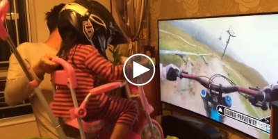 Awesome Dad Lets Daughter Experience the Thrill of Downhill Mountain Biking