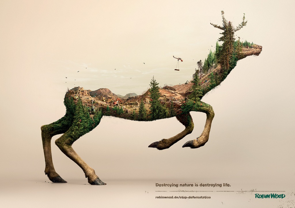 essay on human destroying nature