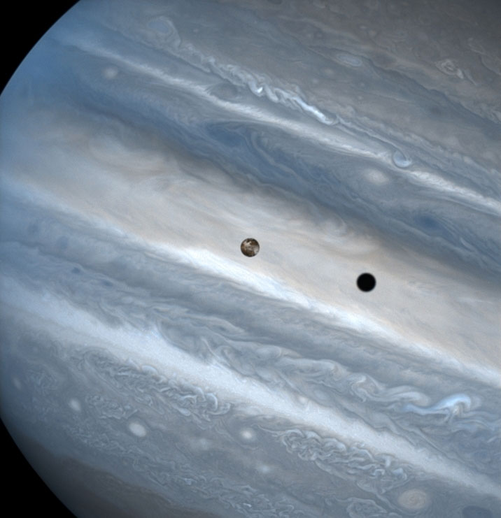Picture of the Day: Jupiter's Moon Io Casts a Shadow as It Transits Jupiter