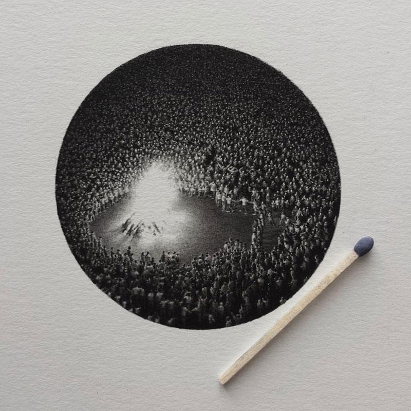 Miniature Crayon Dessins de Mateo Pizarro (3)