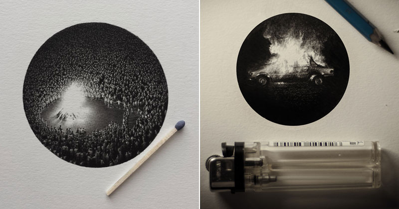 Amazingly Detailed Miniature Pencil Drawings by Mateo Pizarro