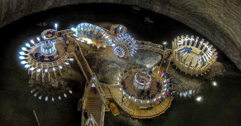 17th Century Romanian Salt Mine Gets Converted Into Wild Tourist Attraction