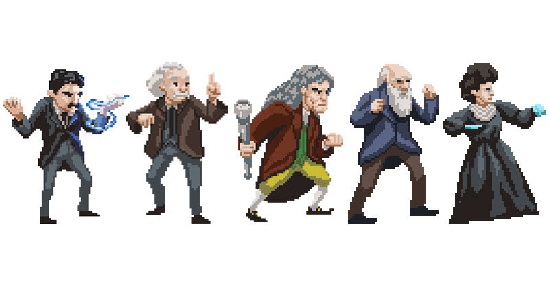 There's a Fighting Game Featuring Famous Scientists and Their Special Moves Look Awesome