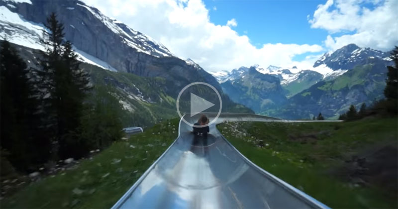 take a ride on a switzerland mountain coaster twistedsifter