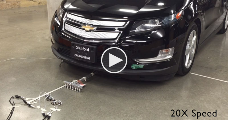 Watch 6 Microbots Weighing 100 Grams Work Together to Pull an 1800 kgCar
