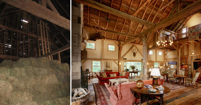 Dilapidated 1860s Barn Gets Revived Into Amazing EntertainmentSpace