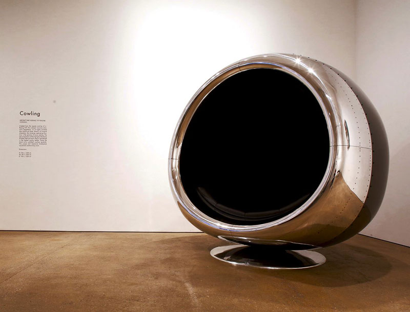 fallen furniture made from old salvaged and reclaimed airplane parts (5)