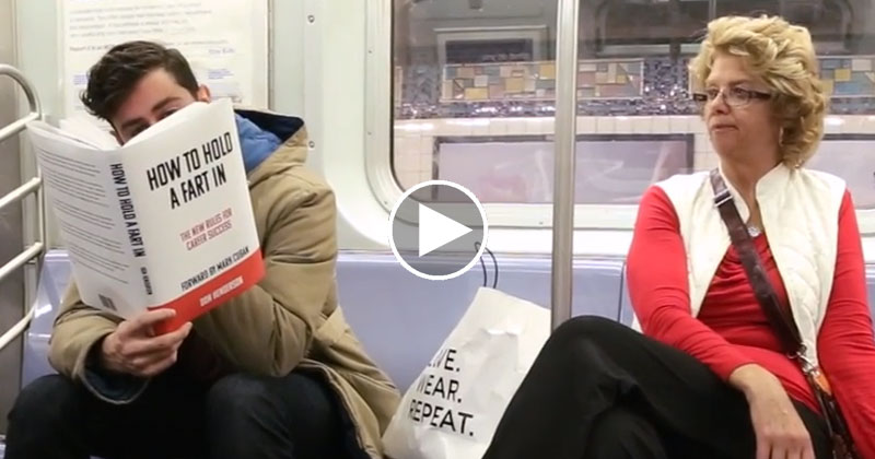 Guy Goes on Subway With Ridiculous Fake Book Covers and Records People's Reactions
