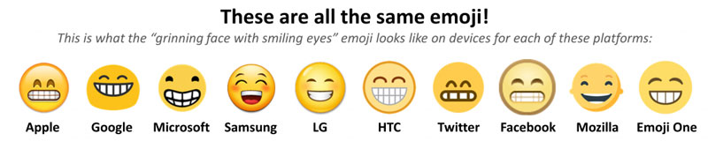 How the Same Emoji Varies Across Platforms (2)