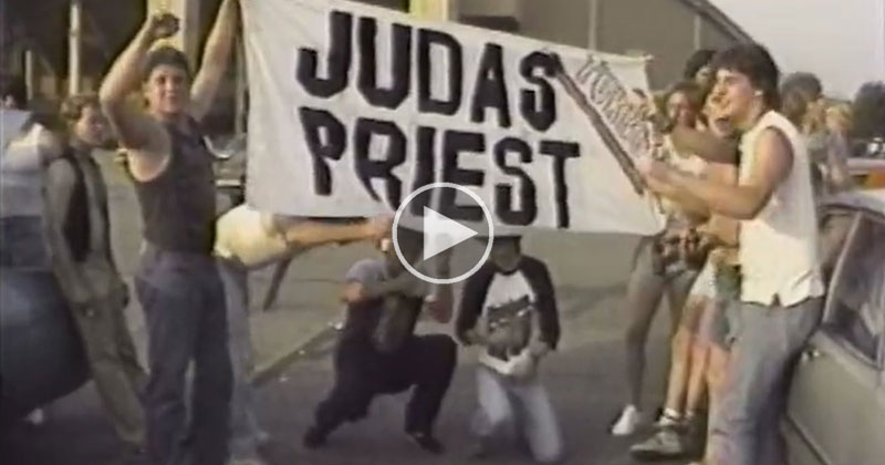 In 1986 Two Guys Filmed the Parking Lot Scene Outside a Judas Priest Concert and It's Amazing «TwistedSifter