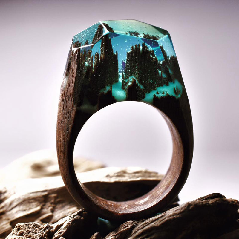 Miniature Landscapes Inside Rings of Wood and Resin by Secret Wood (11)