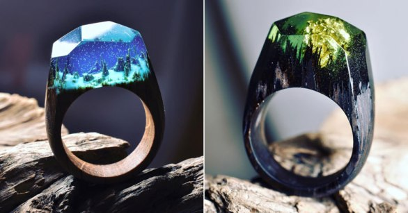 Miniature Landscapes Inside Rings of Wood and Resin by Secret Wood (13)