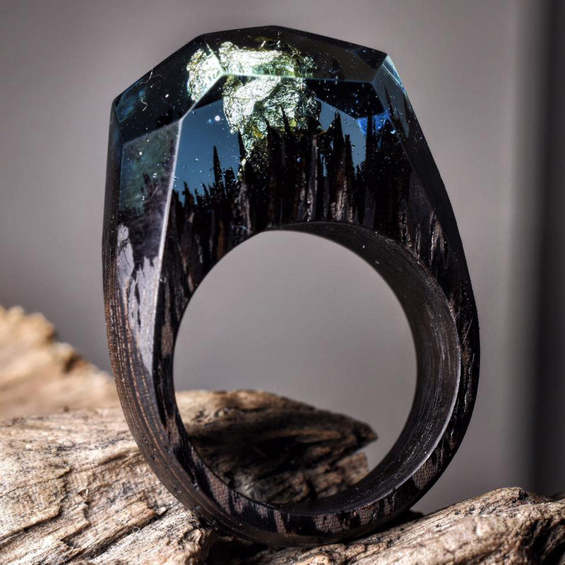 Miniature Landscapes Inside Rings of Wood and Resin by Secret Wood (8)